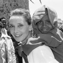 Audrey Hepburn in Etiopia, UNICEF, 1988