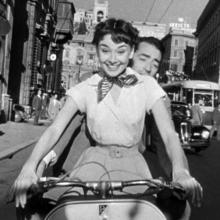 Audrey Hepburn & Gregory Peck in Roman Holiday, 1953