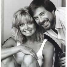 Lawrence Grobel and Goldie Hawn