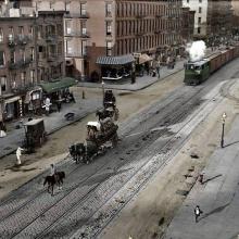 Strada din Manhattan, 1909