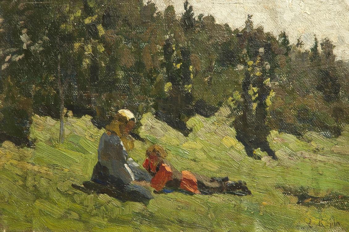 Ilia Efimovici Repin - Peisaj cu personaje(1)