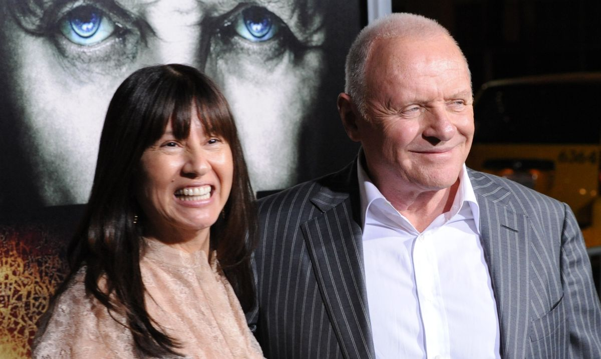 "Anthony Hopkins and Stella Arroyave attends the premiere of ""The Rite"" in Los Angeles"
