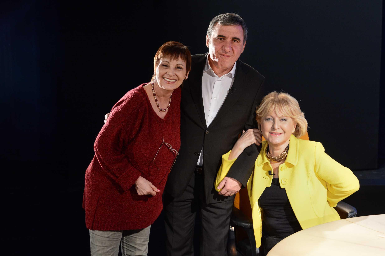 producatorul Liana Sandulescu, Gheorghe Hagi si Eugenia Voda