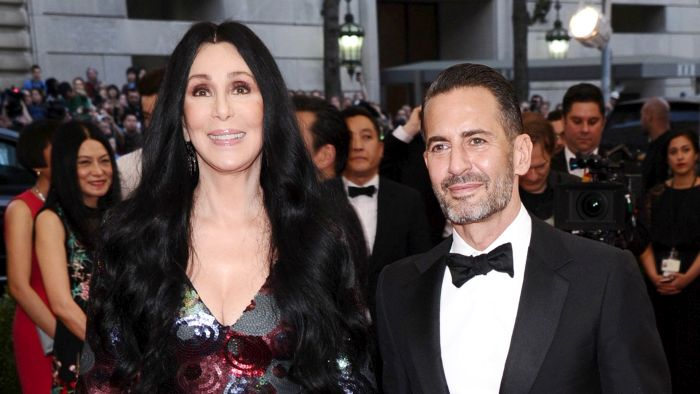 Image: Cher, left, Marc Jacobs