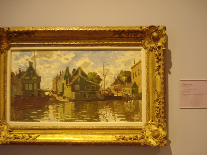 Canal in Zaandam Monet