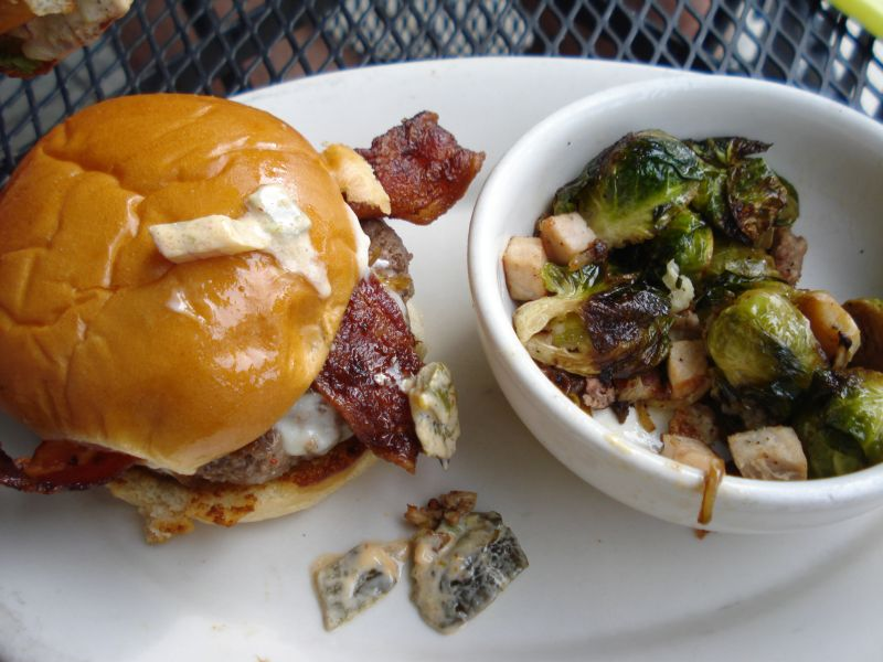burger brussels sprouts