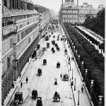 Rue de Rivoli din Paris, la 1800