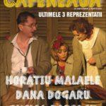 """Ultimele reprezentații: Horaţiu Mălăele, Emilia Popescu şi Dana Dogaru, în """"Cafeneaua"""""""