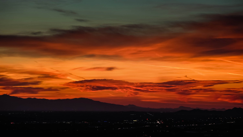 Picturesque sunset in Arizona