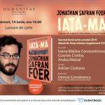 """""""Iată-mă"""", de Jonathan Safran Foer, se lansează la Humanitas Cișmigiu"""
