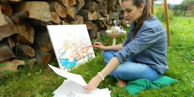 Pictorița Ştefania Nistoreanu expune pentru prima dată la Londra
