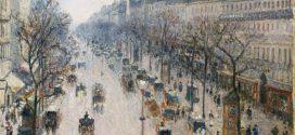 """""""Bulevardul Montmartre, într-o dimineață de iarnă"""", de Camille Pissarro"""