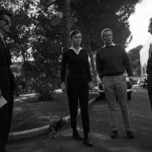 Audrey Hepburn și actorul australian Peter Finch