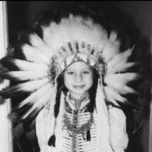 Barbra Streisand, la vârsta de șapte ani
