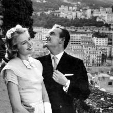 Grace Kelly și Prințul Rainier de Monaco