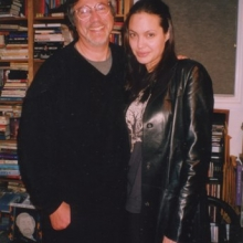 Lawrence Grobel and Angelina Jolie