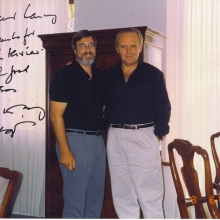 Lawrence Grobel and Sir Anthony Hopkins