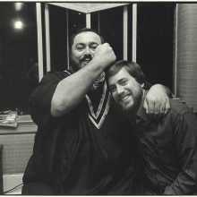 Lawrence Grobel and Luciano Pavarotti