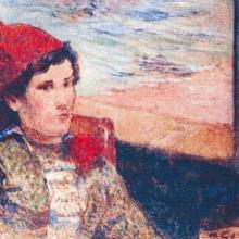 """""""Femme devant une fenêtre ouverte, dite la fiancée"""" de Paul Gauguin"""