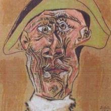 """""""Tete d´Arlequin"""" de Pablo Picasso"""