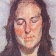 """""""Woman With Eyes Closed"""" de Lucian Freud"""