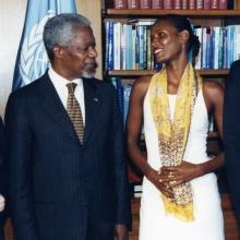 Waris Dirie și Kofi Annan