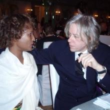 Waris Dirie și Bob Geldof